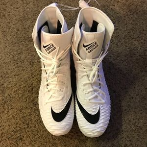 Nike Savage Force White Black Football Cleats Sz14